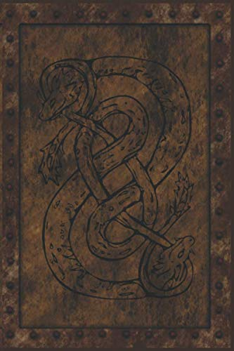 Norse Loki: Notebook Journal Diary. Norse Viking God Loki Snake Symbol On A (faux) Iron Clad Book. 6 x 9