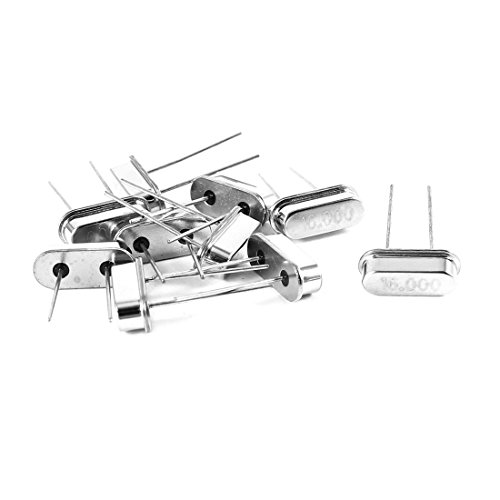 Uxcell a14050500ux0216 HC-49S DIP Quartz Crystal Oscillator, 16 MHz, 16.000 MHz, 10 Piece - Load Crystal