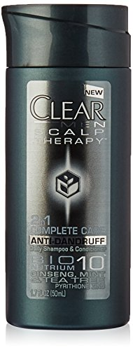 Clear Men 2 in 1 Shampoo + Conditioner Anti-Dandruff Travel Size 1.7 fl oz (Pack of 3)