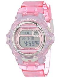Casio BG169R-4 Ladies Baby G Pink Resin Digital Watch