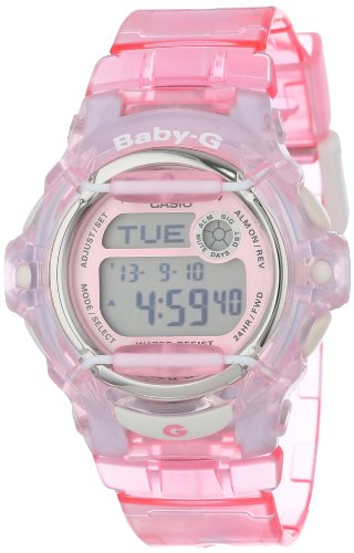 Casio Women's BG169R-4 Baby-G Pink Whale Digital Sport Watch (Baby Shock G)