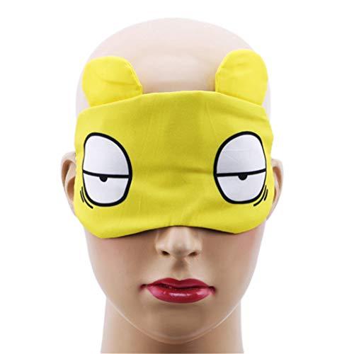 LZIYAN Sleep Masks Cartoon Sleep Eye Mask Soft Cute Eyeshade Eyepatch Travel Sleeping Blindfold Nap Cover,Yellow by LZIYAN (Image #4)