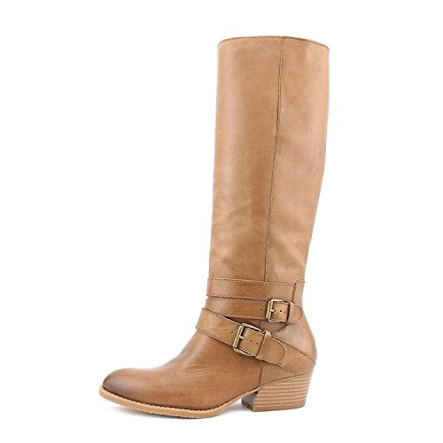 Cole Tan Frauen rund Leder Stiefel Raw Fashion Pumps Deal Kenneth 4wOfqgZO