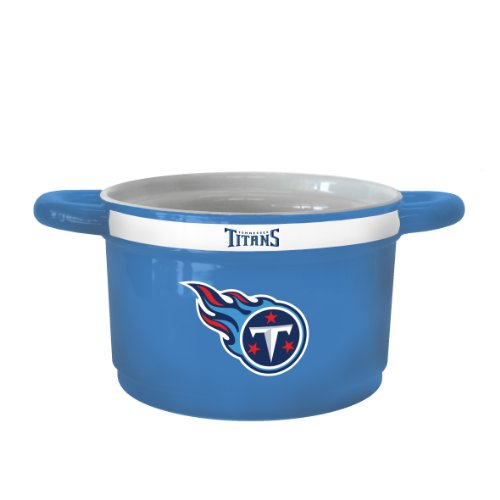 NFL Tennessee Titans Sculpted Gametime Bowl, 23-ounce (Ceramic Tennessee Titans Nfl)