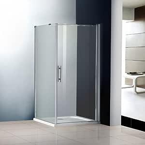 100 X 70 X 195 cm Mampara de ducha cabina ducha puerta ducha pared colgante Puerta ducha Taza (A1 – 10E V2 + 1B V2 + wa70e V2 + asr7010): Amazon.es: Bricolaje y herramientas