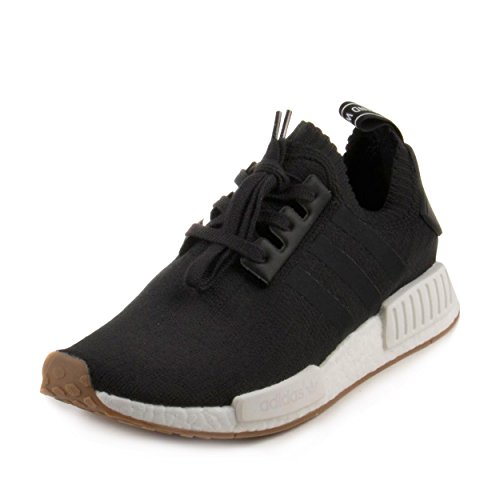 adidas NMD_R1 Primeknit Gum Pack Men's Shoes Black/Gum/Running White by1887 (10.5 D(M) US)