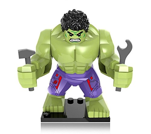 Shalleen 4 PCS Lot Set Big Green Hulk Purple Pants Minfigures Bricks Blocks Toy