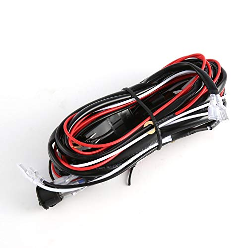 12V 40A LED HID FOG Work Driving Light Wiring Loom Harness Switch Relay Black One for two/Cat Eye Switch: Amazon.co.uk: Kitchen & Home