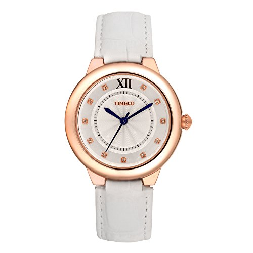 Time100 Women's Fashion Retro Diamonds Genuine Leather Analog Quartz Japan Seiko Movt Watch #W50350L.01A by Time100