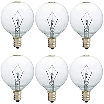 25 Watt Wax Warmer Bulbs, Scentsy Bulb for Full Size Scentsy Warmer, 6 Pack E12 Base Wax Bulb, Dimmable - Warm White - 120 Volt Light Bulbs for Scentsy Burner, High Temp Resistance (25)
