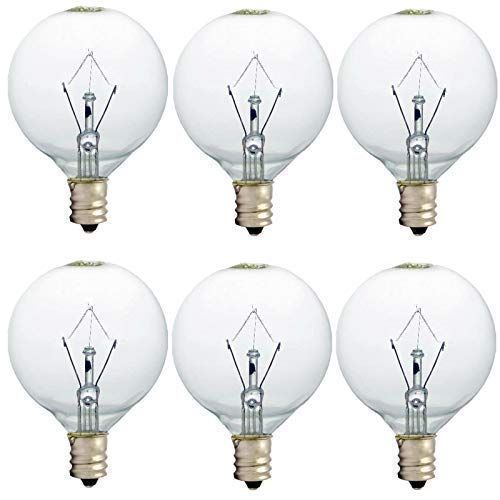 25 Watt Wax Warmer Bulbs, Scentsy Bulb for Full Size Scentsy Warmer, 6 Pack E12 Base Wax Bulb, Dimmable - Warm White - 110 to 130 Volt Light Bulbs for Scentsy Burner, High Temp Resistance (25)