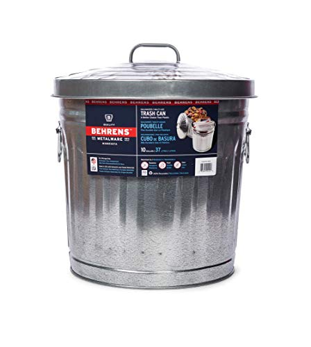 Behrens 1697 Manufacturing 6104 Galvanized Steel Locking Lid Can, 4-Gallon, Original Version (Fireplace To Next Furniture)