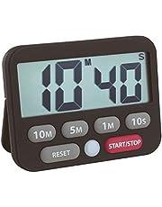 TFA Dostmann Digital timer och stoppur, 38.2038.01, tid upp till 99 min 50 sek, extra högt larm, enkel och snabb tidsinställning, svart