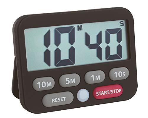 TFA Dostmann Digitale timer en stopwatch, kunststof, zwart, 9 x 2 x 9 cm