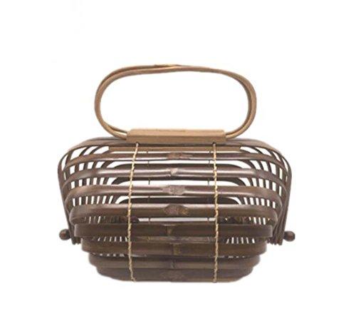 Sac fourre-tout en bambou créatif fait à la main, sac pliable, design Pinchu