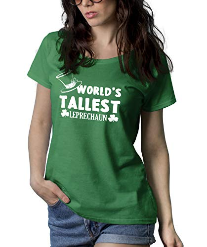 Girls Green Adult St Patricks Day Shirt - Irish Funny Leprechaun Shirt | Leprechaun, 2XL