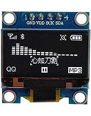 "Lorsoul 0.96"" I2C IIC Scheda seriale 128 * 64 Blu OLED LCD di Ricambio Modulo Display a LED per Arduino"