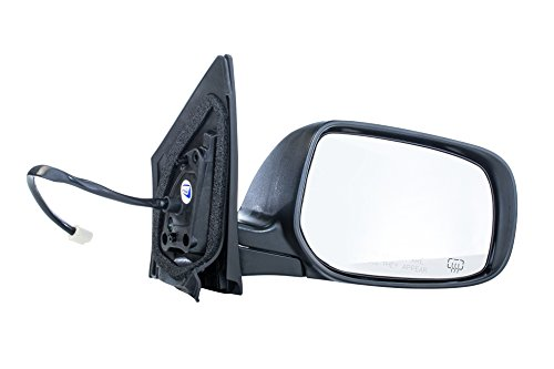 Heated Passenger Side Mirror - Dependable Direct Right Passenger Side Black Heated Manual Folding Door Mirror for Toyota Corolla (2009 2010 2011 2012 2013) - Part Link #: TO1321247