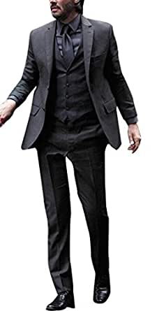 Keanu Reeves John Wick Black Suit at Amazon Men's Clothing store: