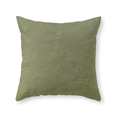 Society6 Tuscan Olive Green Plaster Throw Pillow Indoor Cove
