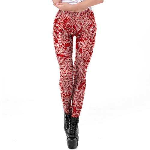 (AICHESON Large Intestine with Blood Print Personalized Leggings)