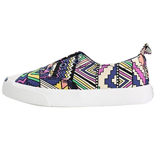 Alexis Leroy Multicolores Doodles Zapatos de Deporte Para Unisex-Niños Morado