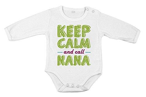 Baby Cotton Unisex Newborn Bodysuit Long one-Piece Keep Calm and Call Grandma