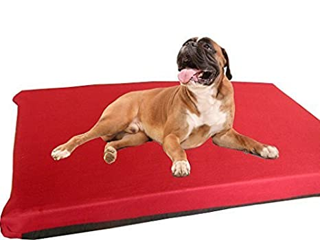kosipet® grande Deluxe colchón de espuma de alta densidad impermeable cama para perro Vino Polar: Amazon.es: Productos para mascotas