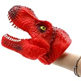 Gold Happy Dinosaur Hand Puppet Animal Head Hand Puppet Figure Toys Gloves Children Toy Model Gift