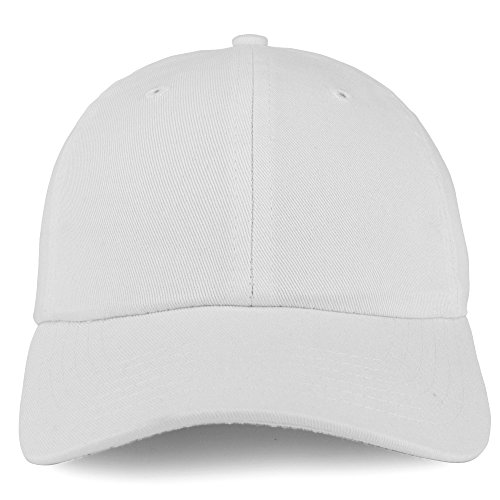 Trendy Apparel Shop Youth Small Fit Bio Washed Unstructured Cotton Baseball Cap - White by Trendy Apparel Shop (Image #1)
