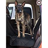 Dog Seat Cover for Cars and Trucks by Khotso - Hammock Backseat Covers for Trucks and SUVs, Fully Quilted Waterproof Backseat Protection with Car Seat XL Oversize Fit