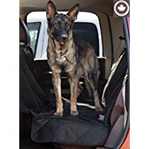 Khotso Dog Seat Cover for Cars and Trucks - Hammock Backseat Covers for SUV, Waterproof Backseat Protection for Bench Seat, XL Oversize Fit, Large Fully Quilted Car Protection