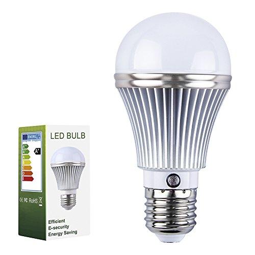 Eleoption E27 LED Light Bulb 5W with Dusk Sensor Integrated Photosensor Detection Automatic switch light Interior Lighting And Exterior Lighting Indoor/Outdoo (Warm White 3000K) by Eleoption