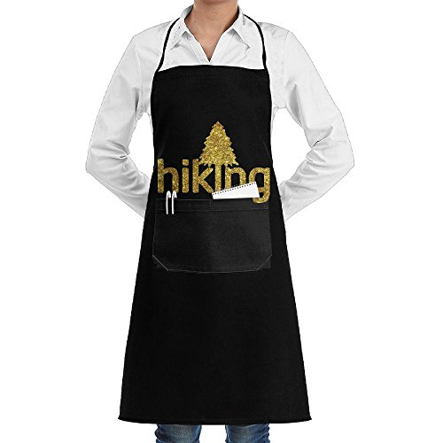 Live Love Hike Hiking Cooking Kitchen Aprons With Pockets Bib Apron For Cooking, Baking, Crafting, Gardening, BBQ by AAAAACHEF (Image #1)