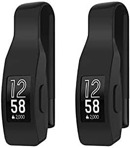 EEweca 2-Pack Clip for Fitbit Inspire or Inspire HR Holder Accessory, Black