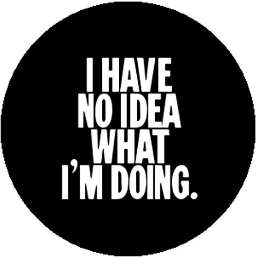 Comedy Badge Button I Have No Idea What I'm Doing Ironic Crazy Psycho Sarcastic -