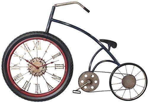 Wghz Decoración de Pared Vintage Bicicleta Mapa Reloj Dormitorio ...