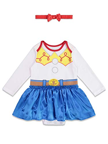 Disney Toy Story Jessie Baby Girls Costume Onesie Dress & Headband 6-9 Months