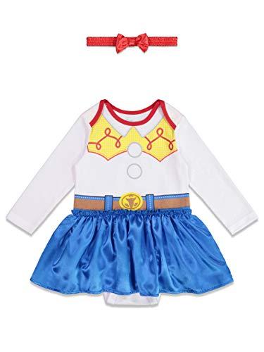 Toy Story Jessie Toddler Halloween Costume (Disney Toy Story Jessie Baby Girls Costume Onesie Dress & Headband 18)