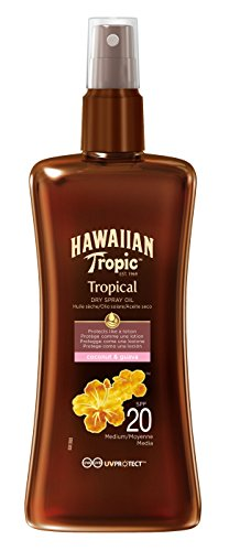 Hawaiian Tropic Protective Dry Spray Oil LSF 20, 1er Pack (1 x 200 ml)