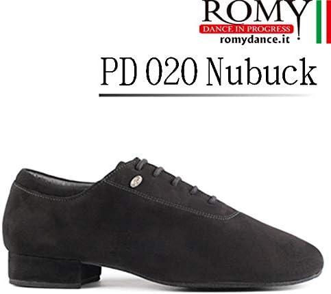 (ロミーダンス)ROMY dance「PD 020 Nubuck(メンズ ヌバック スタンダード ダンスシューズ)」|男性|紳士|メンズ|シューズ|スウェード|ダンス|社交ダンス|スタンダード  40(25cm)