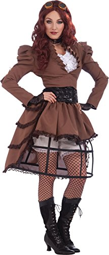 Women's Victorian Fancy Dress Party Steampunk Vicky Costume Hoop & Skirt Only]()