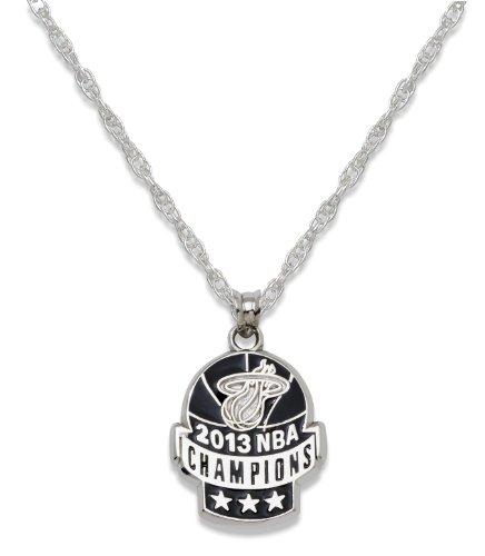 NBA Miami Heat 2013 Champions Enameled Sterling Silver Pendant by LogoArt