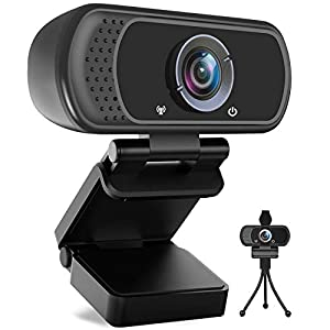 Flashandfocus.com 41c4ZOUH3NL._SS300_ Avater HD Webcam 1080P with Microphone, PC Laptop Desktop USB Webcams 110-Degree Widescreen Web Camera with Rotatable…