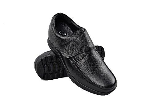 Zerimar Chaussures Rehaussantes Por Hommes Ajoutez +7 CM à Votre Taille Fait de Cuir de Haute Qualité Couleur Noir Taille 43
