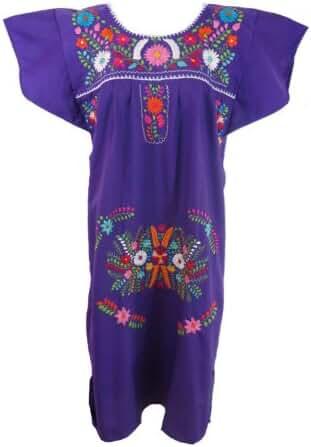 Leos Mexican Imports Women's Mexican Puebla Dress