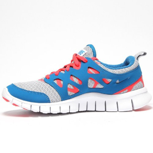 Nike Free Run 2 GS Grey Blue Youths Trainers