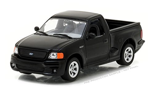- 1999 Ford F-150 SVT Lightning Pickup Truck Black 1/43 Diecast Model Car Greenlight 86085