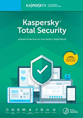 - Kaspersky Total Security 2018 | 5 Device | 1 Year [Key Code]