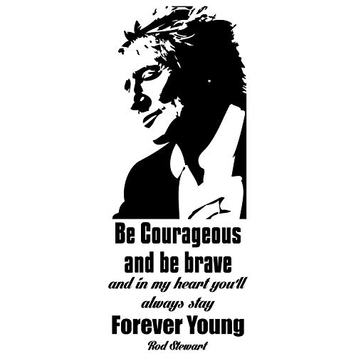 - My Vinyl Story Rod Stewart Forever Young Inspirational Motivational Wall Art Decal Quote for staying Inspired, Motivated, Focused, Positive Office Decor Words and Saying Encouragement Gift 40x16 in